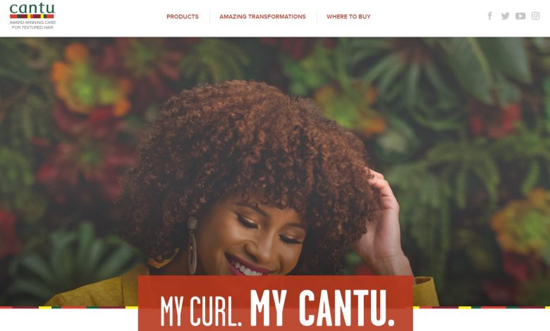 The homepage of the Cantu website