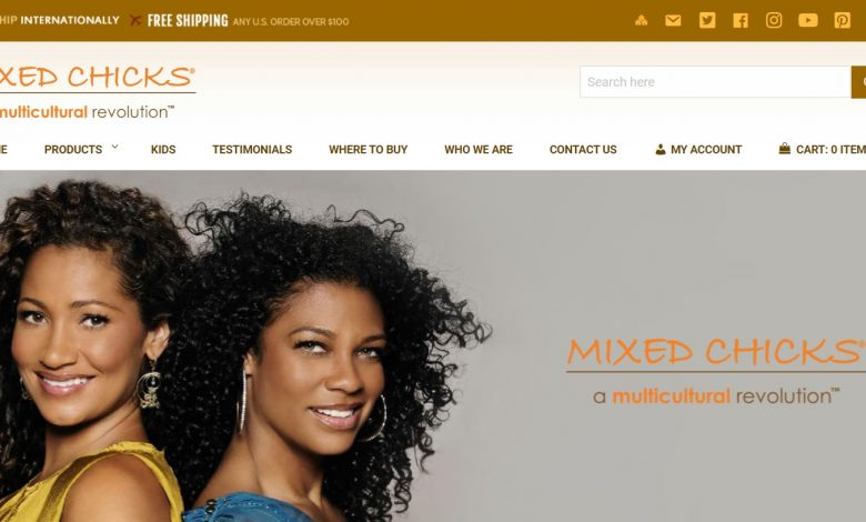 The Mixed Chicks website homepage