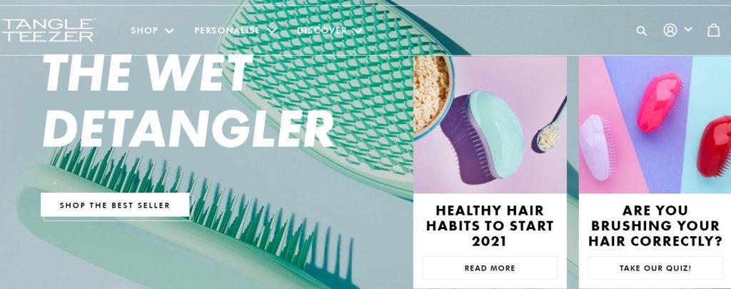 The Tangle Teezer website