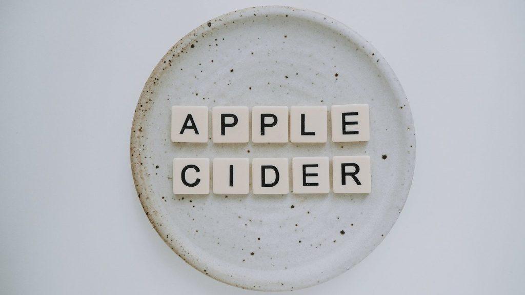 Apple Cider written in Scrabble letters