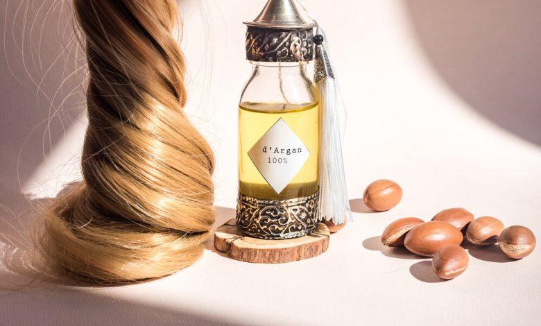 A bottle of Argan oil