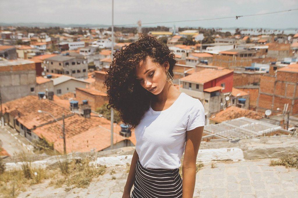 A girl in Brazil
