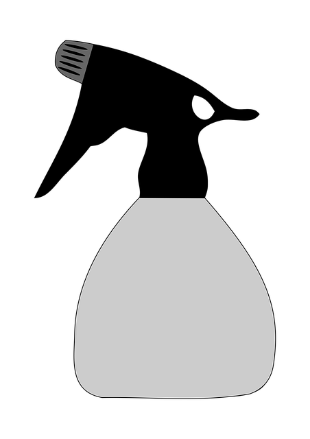 An illustration of a spray bottle